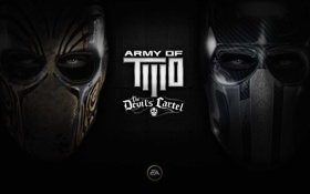 Обои mask, army two devils cartel, black, iron