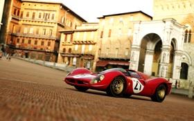 Обои Город, Ретро, Спорт, Ferrari, Суперкар, Sport, 330