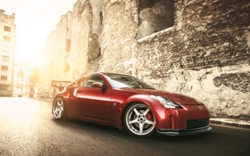 Картинка red, Nissan, 350z, tuning