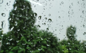 Картинка капли, дождь, Akela White, стекло, макро