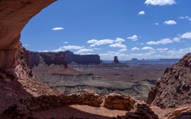 Обои пейзаж, скалы, небо, облака, каньон, горы, камни