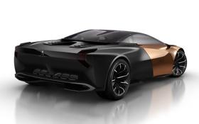 Обои Onyx, Peugeot, концепт, Оникс, Пежо, суперкар, вид сзади