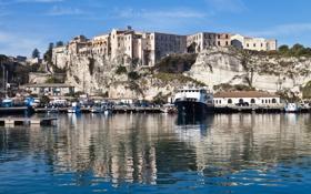 Картинка фото, причал, море, город, побережье, пирс, Италия