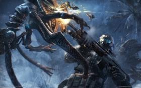 Обои оружие, инопланетянин, нанокостюм, crysis