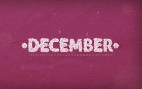 Обои december, календарь, декабрь, числа