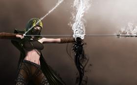 Картинка лук, стрела, девушка