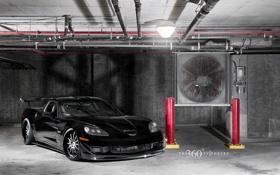 Обои трубы, чёрный, лампа, Z06, Corvette, Chevrolet, шевроле