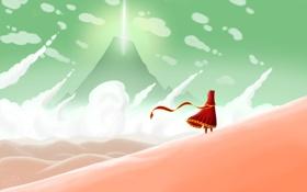 Картинка небо, пустыня, игра, journey
