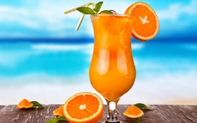 Обои summer, fresh, fruit, orange, drink, cocktail, tropical