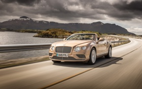 Обои Bentley, Continental, кабриолет, бентли, континенталь, Convertible, 2015