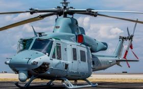 Обои вертолёт, аэродром, многоцелевой, Venom, Bell UH-1Y