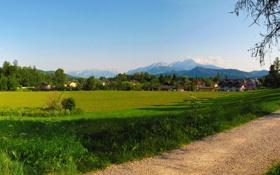Обои Зальцбург, пейзаж, природа., Авситрия, поле, Salsburg, Austria