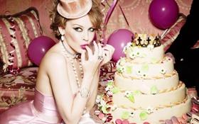 Картинка торт, певица, кайли миноуг