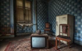 Картинка телевизор, холодильник, стул