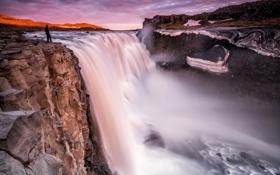 Картинка waterfall, Iceland, Dettifoss