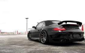 Обои Небо, Фото, Авто, Черный, 911, Porsche, Порше