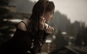 Обои взгляд, девушка, надежда, красивая, ожидание, Waiting love