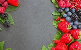 Картинка ягоды, малина, черника, клубника, fresh, berries