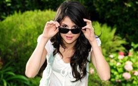 Обои девушка, очки, селена