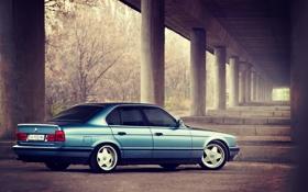 Картинка car, BMW, классика, E34, 520i