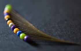 Картинка макро, цвет, форма, булавки