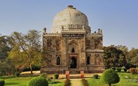 Обои здание, Индия, архитектура, Дели, India, Лоди сады, Богато гробницы