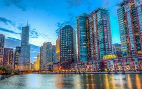 Обои небоскребы, USA, чикаго, Chicago, illinois