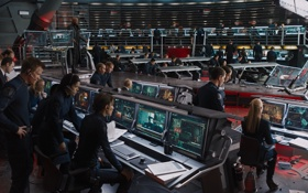 Картинка команда, Marvel, мониторы, супергерои, оборудование, Мстители, The Avengers