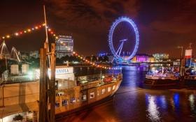 Обои A Fun Night in London, ночь, Лондон, огни