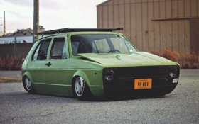 Картинка car, volkswagen, гольф, golf, rabbit, фольксваген, low