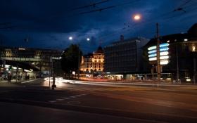 Обои ночь, Швейцария, Switzerland, night, Люцерн, Luzern