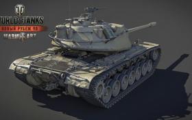 Обои танк, USA, США, танки, рендер, WoT, Мир танков