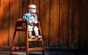 Картинка сидит, мальчик, удивление, ребёнок, очки