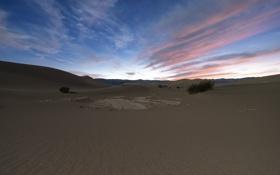 Картинка песок, закат, природа, пустыня, дюны, Death Valley