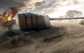 Обои WoT, World of Tanks, Мир Танков, Wargaming Net, FV4005 Stage II