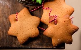 Обои праздник, еда, Рождество, Новый год, пирожное, Happy New Year, десерт