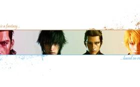 Обои Final Fantasy, Final Fantasy XV, Ignis, Noctis, Prompto, Gladiolus