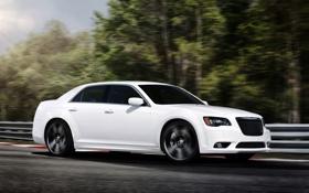 Обои Авто, Белый, Chrysler, Машина, Седан, 300C, srt8
