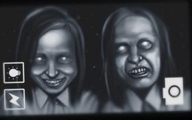 Обои девушки, лица, horror, fan art, ksushow, dreadout