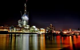 Картинка ночь, англия, лондон, london, night, england