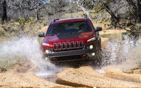 Картинка вода, брызги, джип, внедорожник, Jeep, Trailhawk