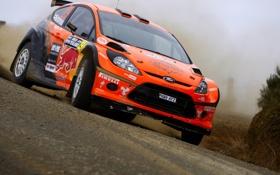 Картинка Ford, Машина, Гонка, Оранжевый, WRC, Rally, Ралли