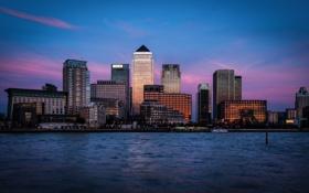 Обои Англия, Лондон, london, england, Thames River, Canary Wharf