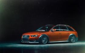 Картинка Audi, front, orange, Vossen, Toyo Tires