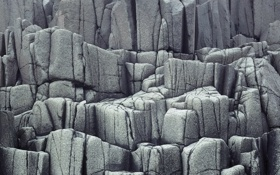 Обои белый, трещины, камни, серый
