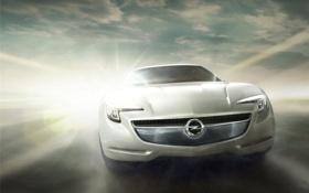 Обои машина, фон, Opel, flextreme