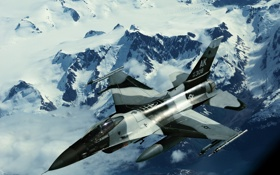 Обои Alaska, F-16, Fighting Falcon, Аляска., Northern edge