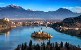 Обои Radovljica, Zgornje Gorje, Slovenia