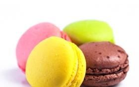 Обои сладость, выпечка, ассорти, радужные цвета, Макаруны