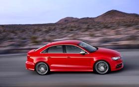 Обои Audi, Авто, Машина, Седан, Sedan, Вид сбоку, В Движении